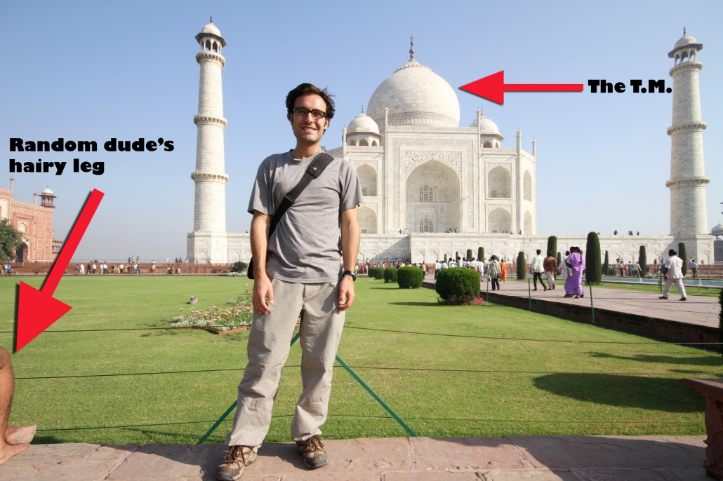 You look like an idiot pinching the Taj Mahal's dome (and other observations from Agra)