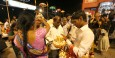 Devout Hindus purchase flower arrangements