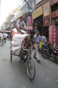 Asia, India, New Delhi, Delhi, rickshaw, jama masjid, busy, traffic, crowded, too big, crazy