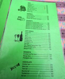 EBC menu