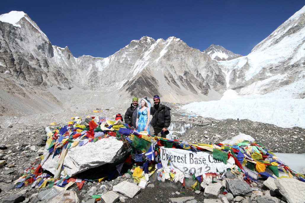An avalanche at Everest Base Camp
