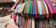 Colorful scarfs for sale near Durbar Square