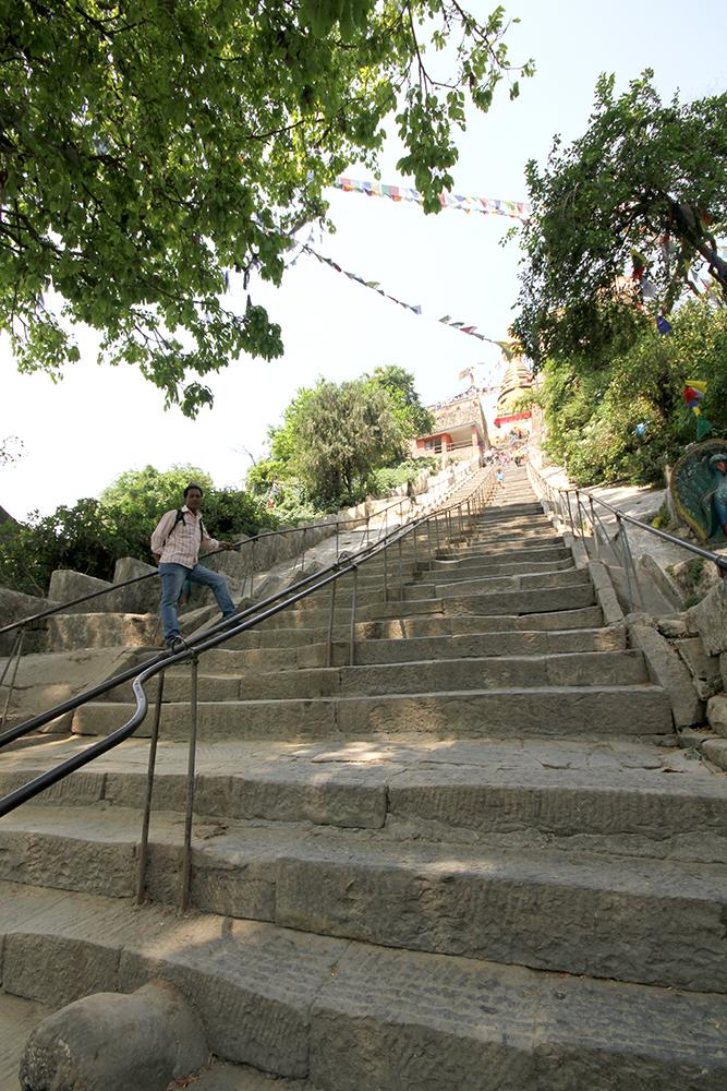 Swayambhu stairs