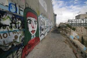 Israeli Palestinian Wall graffiti
