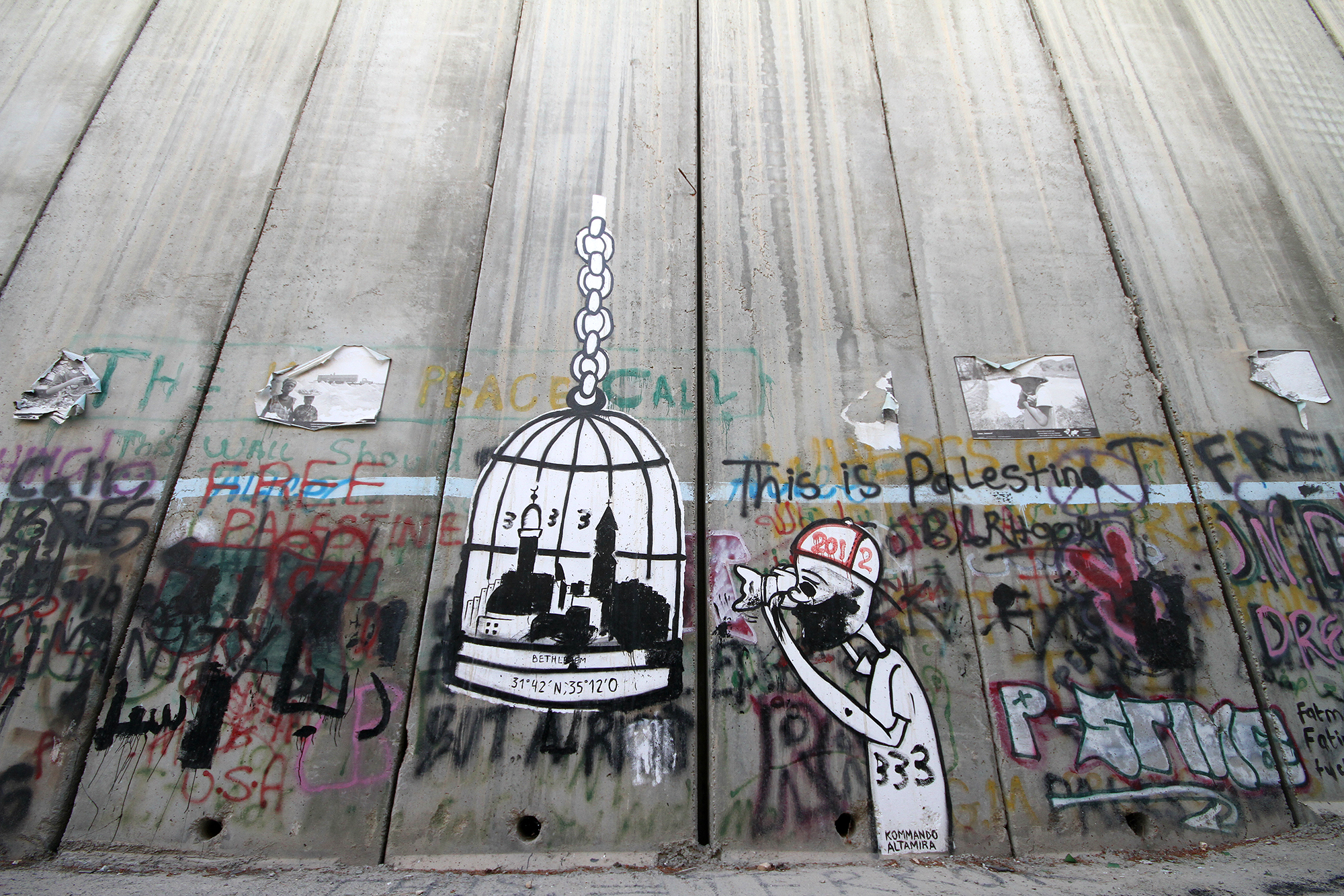 wall separating Israel from Palestine