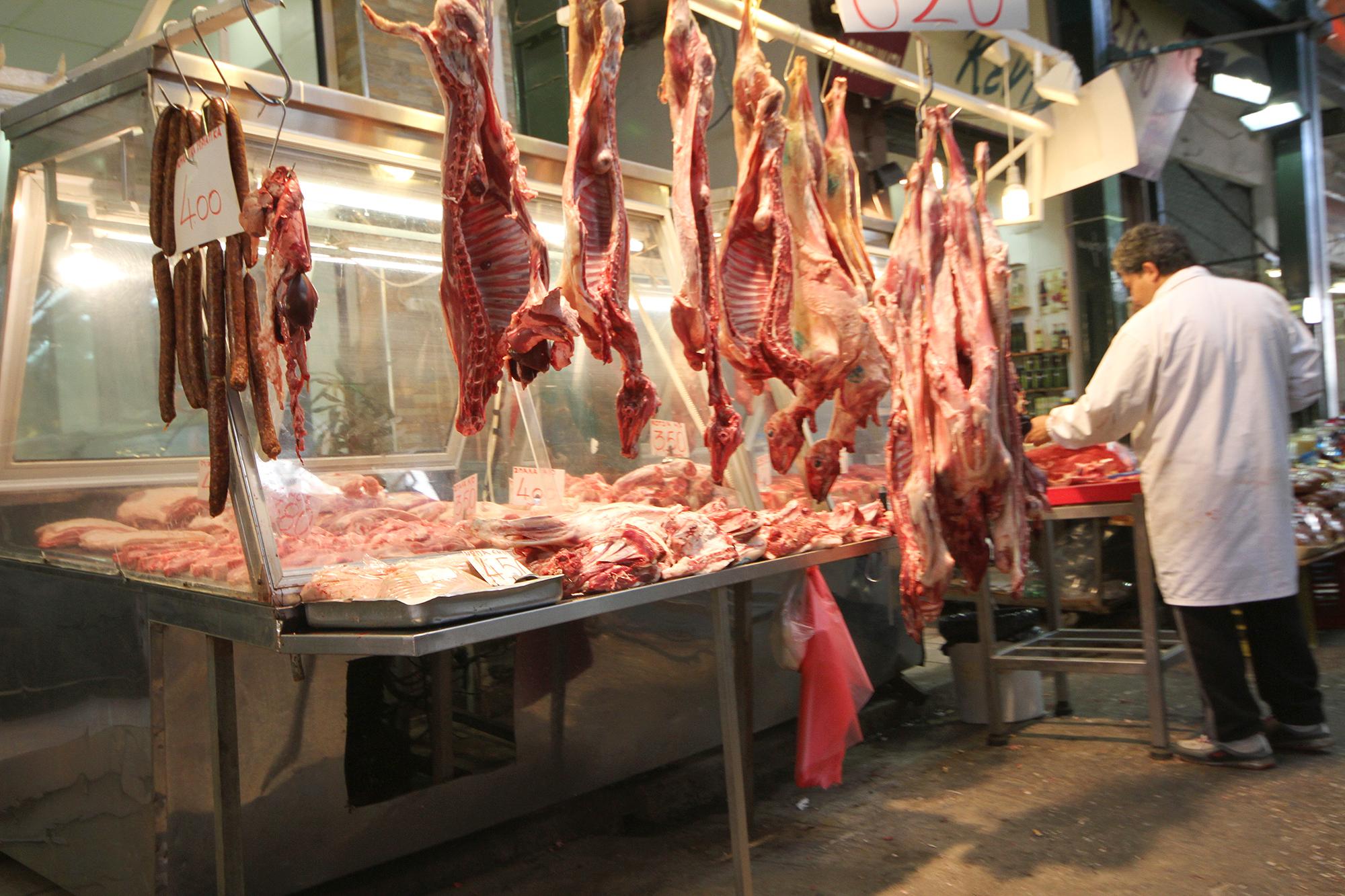Thessaloniki meat market