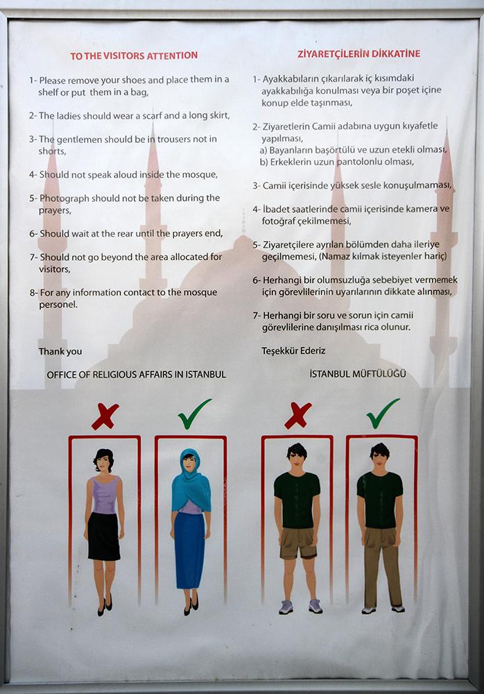 Blue Mosque dress code