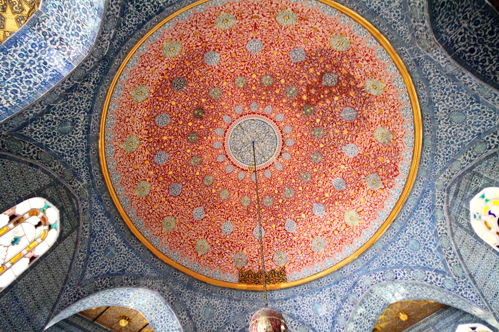 Topkapi Palace Harem ceiling