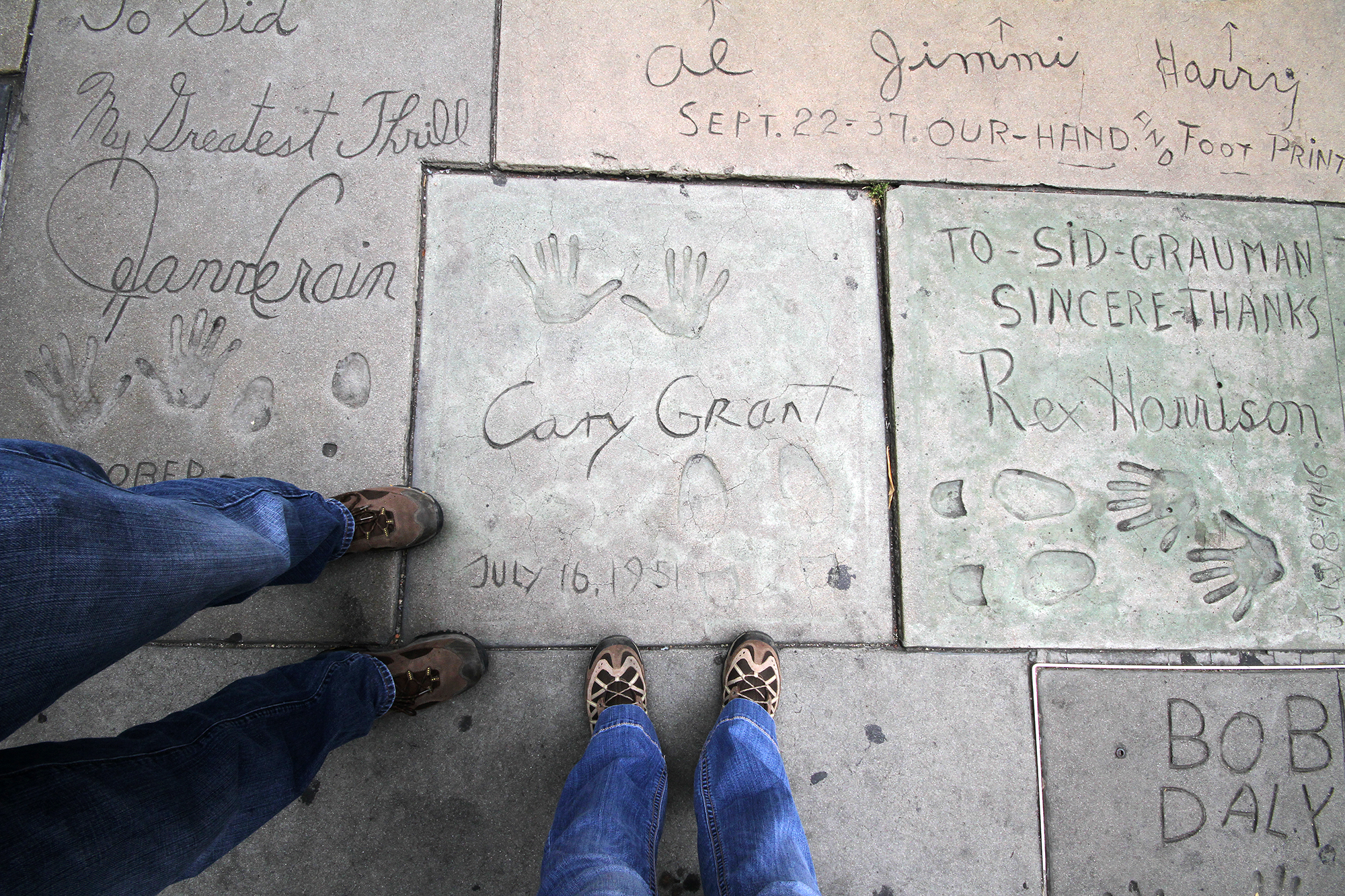 Cary Grant footprints