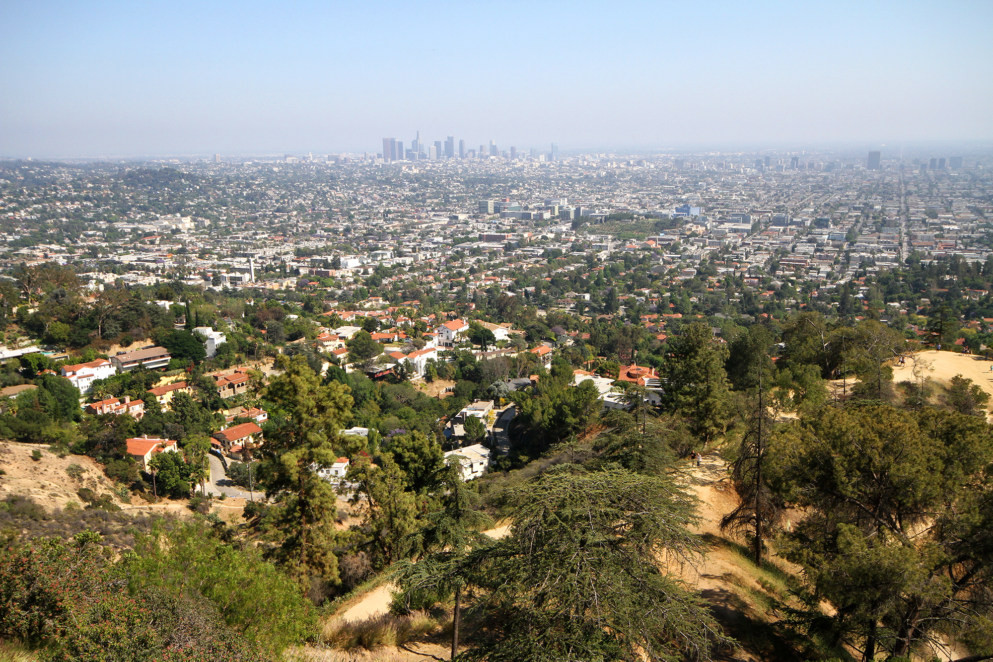 distant view of L.A.